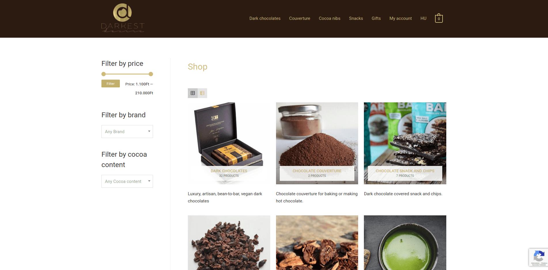 darkchocolates.eu webshop